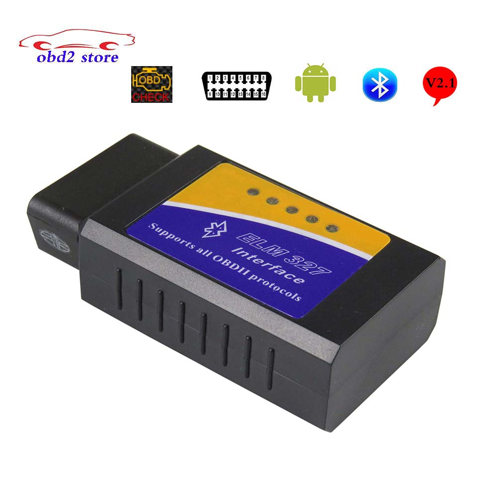 Elm 327 ObdII Adapter Elm327 Bluetooth V2.1 OBD2 Car Diagnostic Tool Scanner For Android ELM-327 OBD 2 Auto Diagnostic Tool
