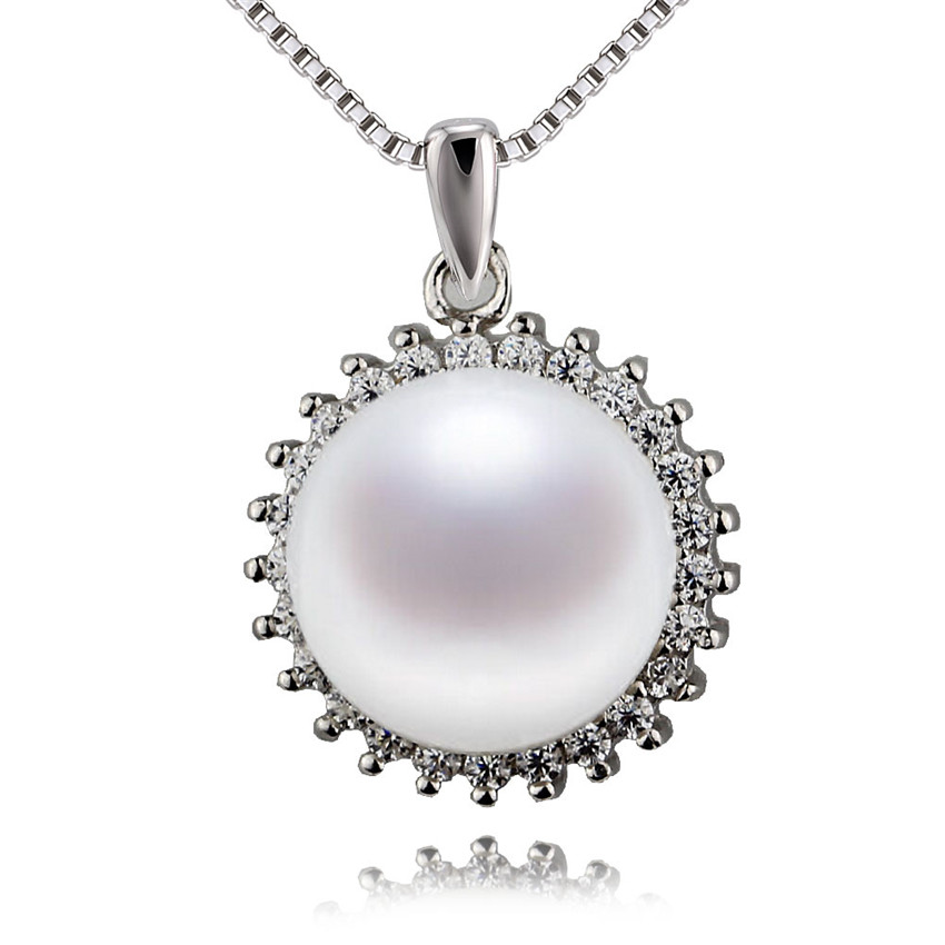 Hermoso Abrigo Plateado Plata mezclada piedras preciosas Lágrima Colgante Perla XLZ-264