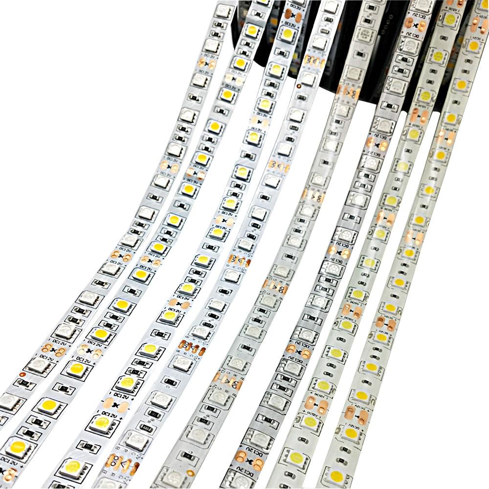 Led Light Strip 5050 DC 12V 60LEDS/m  5M/Lot Single Color Flexible RGB Led Strip