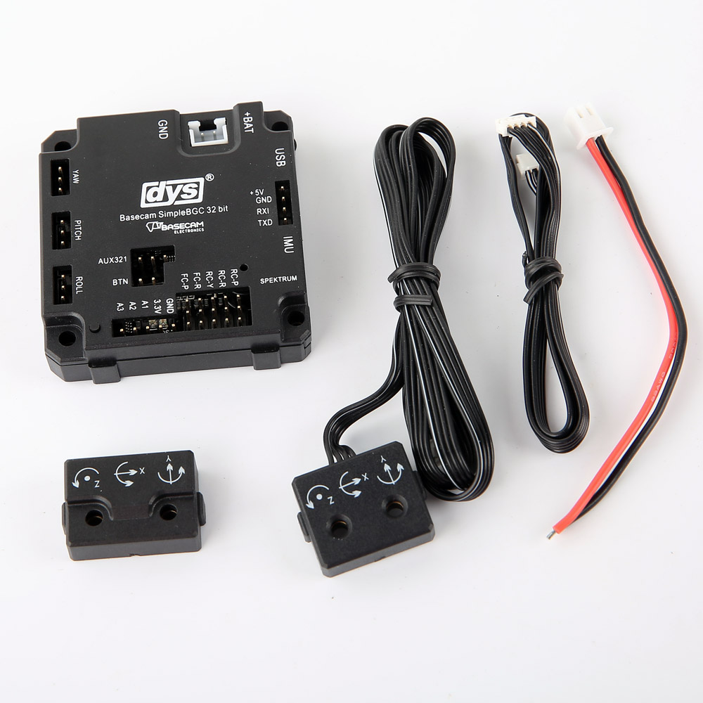 DYS Basecam SimpleBGC AlexMos 32 bit 3Axis Brushless Gimbal Controller with IMU (Plastic Case) for fpv Gimbal & Handheld Gimbal