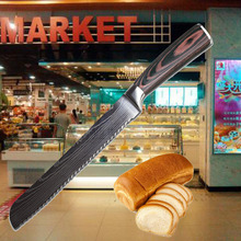 Liang Da Stainless Steel Bread Knife Top Quality Kitchen Serrated Design Cutter For Cutting Cheese Cake Hot Selling