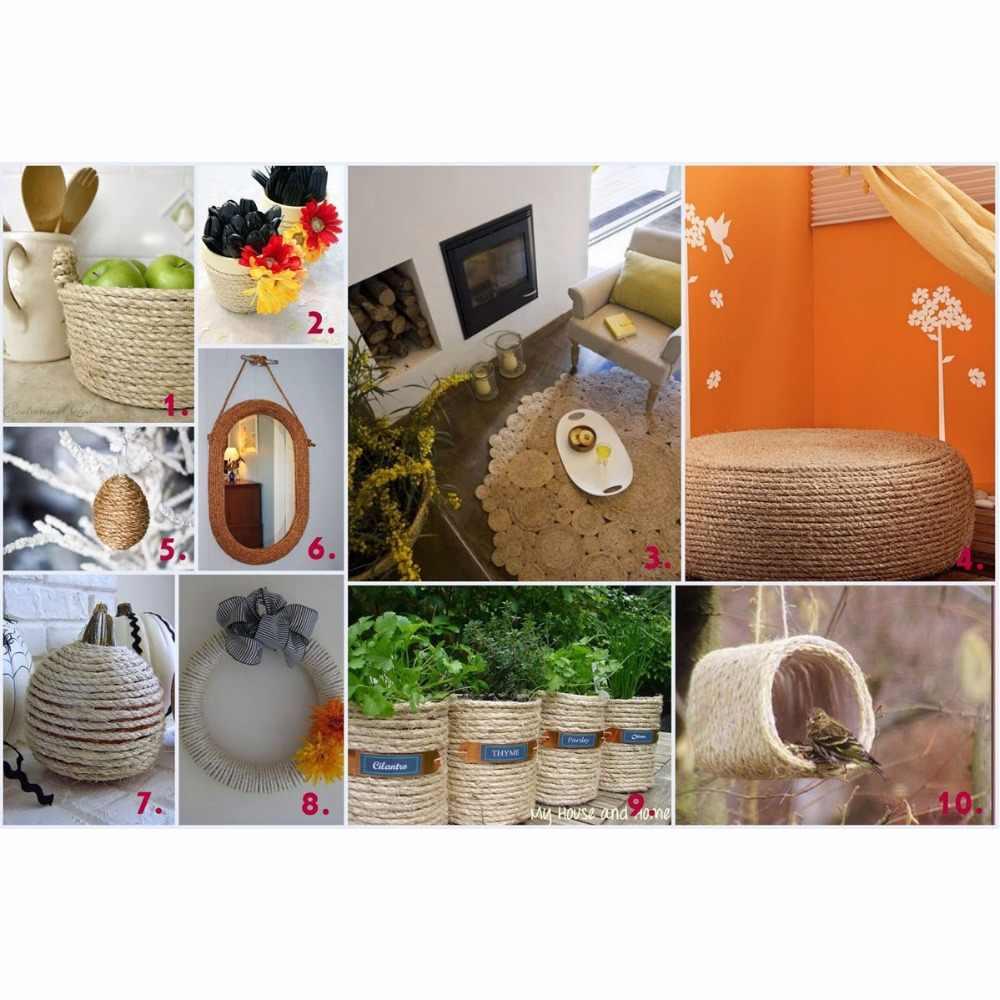 10mm 3-50m Natural Jute Ropes Twine Natural Hemp Cord DIY Nordic Home Handmade Decoration Cat Pet Scratching Khaki