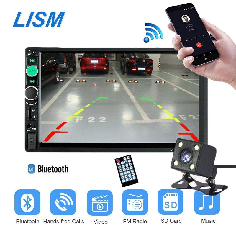 7010B Авторадио 2 din автомагнитолы MP5 Мультимедиа Видео плеер 7 ''ЖК-дисплей Сенсорный экран Bluetooth USB TF AUX Поддержка сзади вид Камера