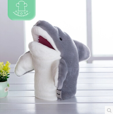 Ocean Animals Mouth Can Move Great White Sharks 26cm Hand Puppet