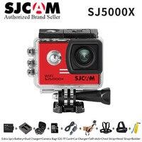 Оригинал SJCAM SJ5000X Элитный WiFi 4 К 24fps 2K30fps Гироскопа Спорт DV 2.0 ЖК NTK96660 Дайвинг 30 м Водонепроницаемая камера Действий шлем Камеры