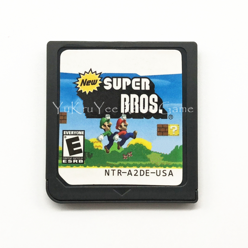 Super Mari Bros. DS Video Game Accessories Compilation Cartridge Card for DS/3DS/2DS Console US Version
