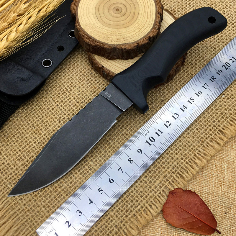 Best navaja MAD DOG tactical knife cold DC53 steel fixed blade survival knives camping hunting EDC