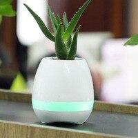 1pc Music Vase Smart Wireless Bluetooth Music Speaker Potted Plants Toys Touch Plant Flower Pots Vase