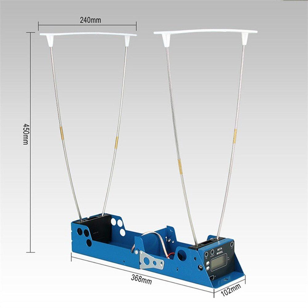 Affichage LCD mesure balle vitesse chasse au tir chronographe pliable testeur de vitesse velomètre compteur de vitesse avec deux capteurs - 4