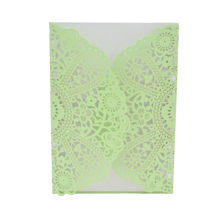 Us 24 0 Floral Laser Cut Mint Green Color Wedding Invitation Card In Cards Invitations From Home Garden On Aliexpress