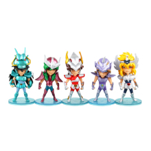 SAINT SEIYA CHIBI SUPER DEFORMED ACTION FIGURE BUNDLE OF 5 PER ORDER J01 new arrival s temple metal club sagittarius aiolos saint seiya metal armor myth cloth gold ex action figure tv or oce edition