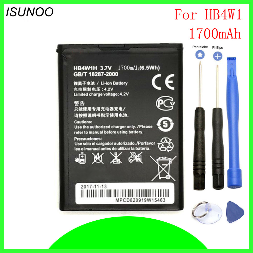 ISUNOO HB4W1 phone battery For Huawei Ascend G510 G520 G525 Y210 Y530 U8951 T8951 C8813/Q/DQ C8813D G525-U00 Batteries with tool