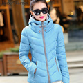Free shipping 2017 New Fashion Down & Parkas Warm Winter Coat Women Light Thick Winter  Hooded Jacket Female Outerwear 30hfx