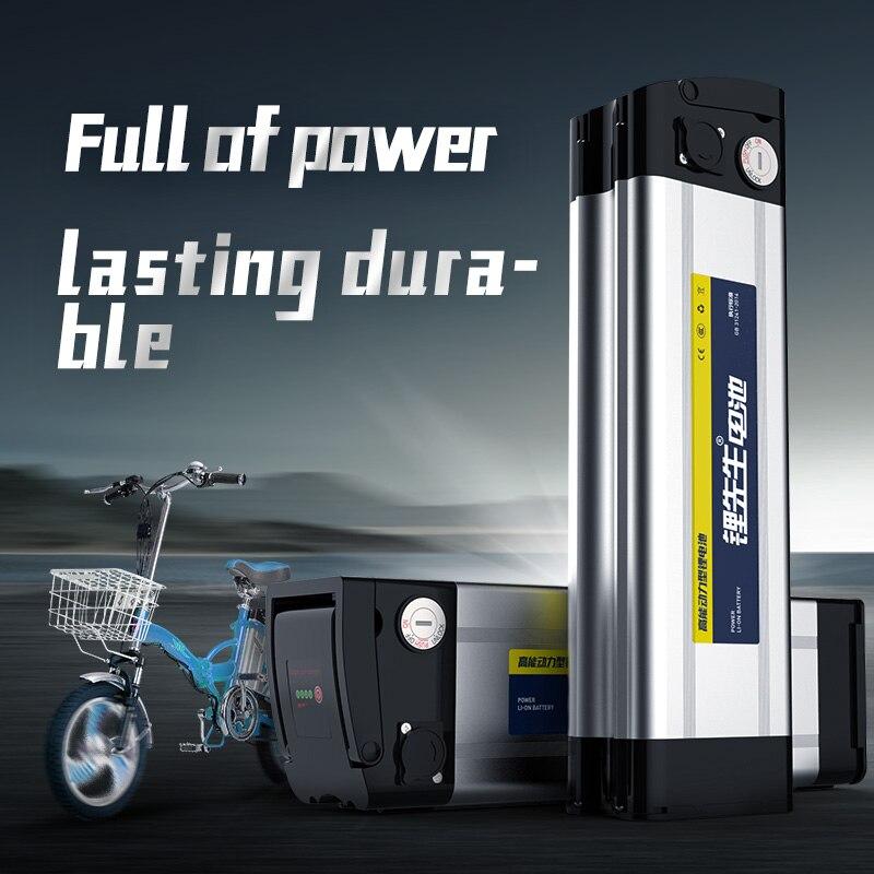 D'origine 48 v 12ah 20ah Lithium ion Vélo Électrique Batterie argent flish vélo Batterie Pack 50A BMS avec 54.6 v 3A chargeur