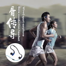 Bone Conduction Headsets Wired Earphone Outdoor Sports Headphones Noise Reduction Hands-free with Mic for Smart Headset Stereo