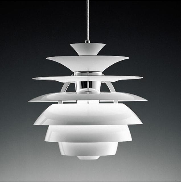 Modern LED Pendant Lights Denmark Louis Poulsen PH Snowball Aluminum ...