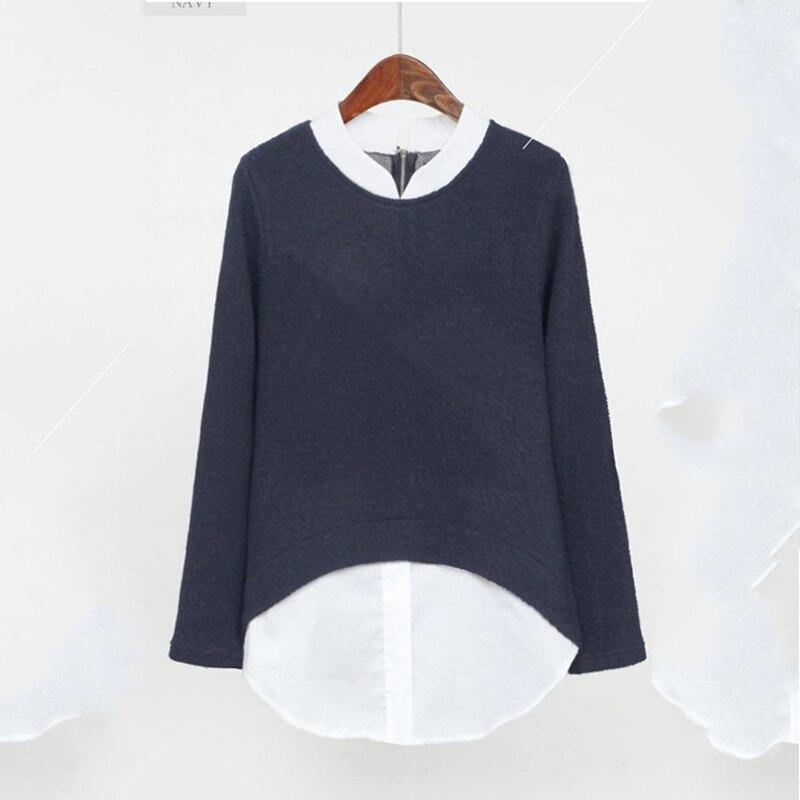 2019 jesień europejski styl Plus rozmiar 5XL koszule damskie  Vak78