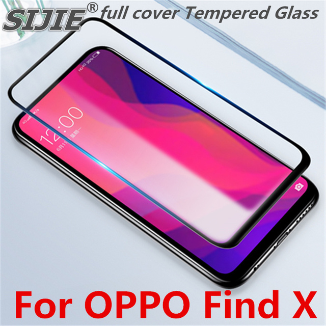huge selection of 94a04 576cf US $1.99 |full cover Tempered Glass For OPPO Find X Screen protective phone  toughened case covers 9H on frame all edges Suitable fit-in Phone Screen ...
