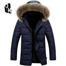 Patchwork Mens Padded Coat Fashion slim medium long Winter Jacket Men Slim Warm Wadded Coat men Hoodies Parkas
