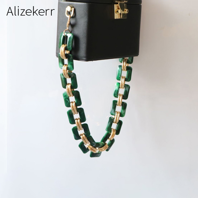Acrylic Shoulder Straps For Handbags Women Luxury Designer Acrylic Alloy Hand Made Purse Belts Ladies High Quality Handbag Strap