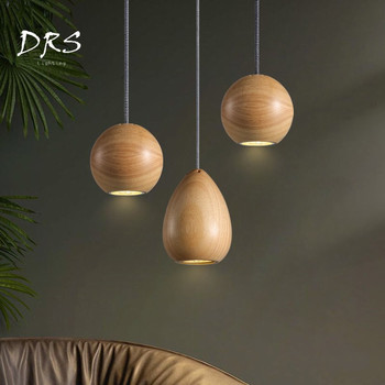 Nordic Modern Minimalist Decorative Pineapple Single Head LED Chandelier Dining Hall Hallway Bedroom Globe Lamp