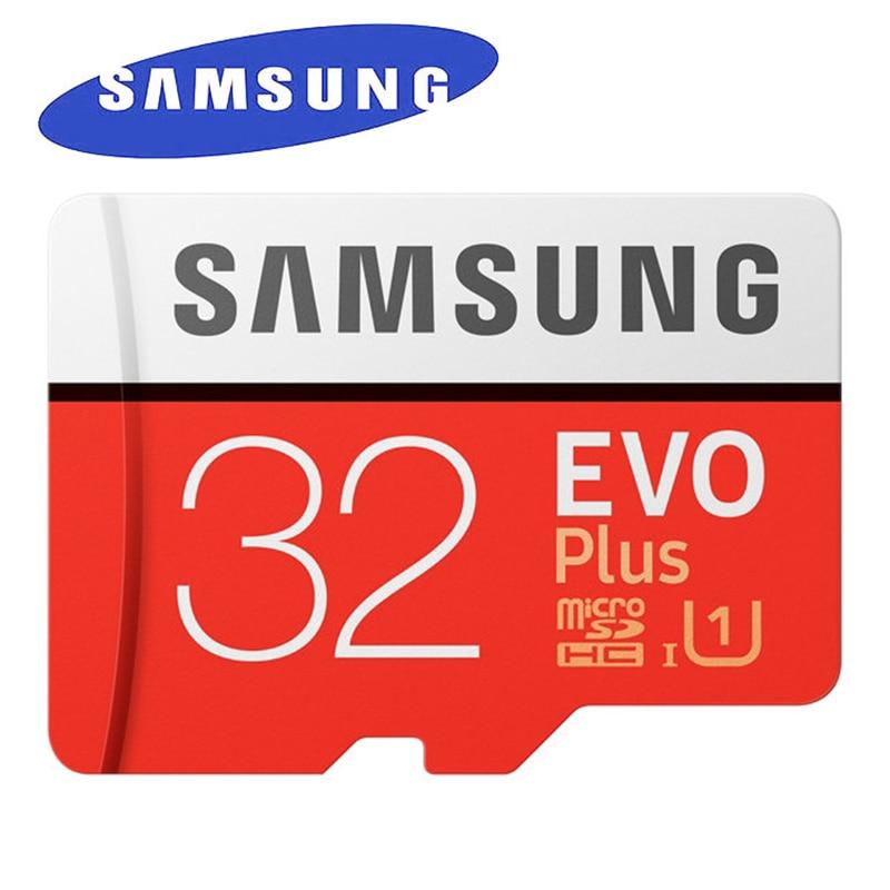 SAMSUNG EVO Plus MicroSD Memory Card 32GB Class10 microSDHC U1 UHS-I C10 TF Card 4K HD wit