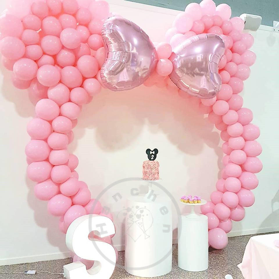 <font><b>100pcs</b></font> 2.3g pink Latex balloons with 18