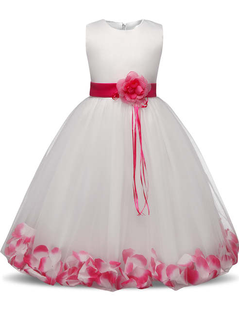 Abiti Da Sera Per Ragazze.Online Shop Fata Petali Teenager Girl Dress Bambini Cerimonia
