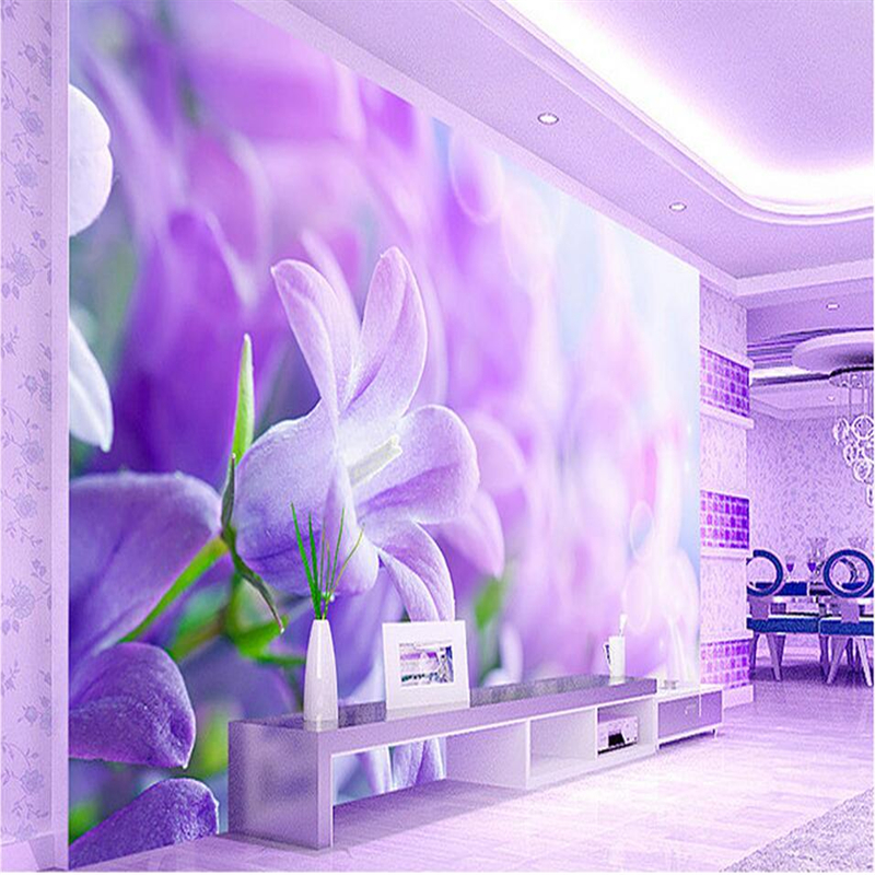 Customized Large 3D Wall Murals Photo Wallpaper Flower for Living Room TV Background Wall Paper Living Room Restaurant Bedroom fresh lily living room sofa tv background wallpaper bedroom fabric wall paper murals large 3d stereoscopic personalized custom