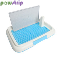 pawstrip Dog Litter Box With Column Pet Dog Toilet Indoor Puppy Potty Patch Training Pad Tray 47*35cm