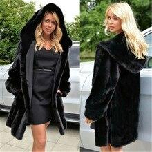 Aikooki Ladies Hoodies Overcoat Hoody Imitation Fur Parka Warm Coats High Quality Women Winter Stylish Garment Parka Faux Fur