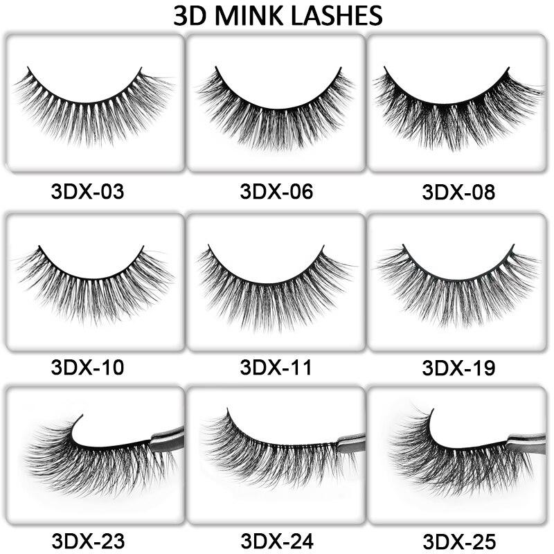 20/30/50/100 Pairs DIY Logo Customize Fake Eyelashes Package Custom Label False Eyelashes 3d Mink Lashes Makeup Lashes Wholesale