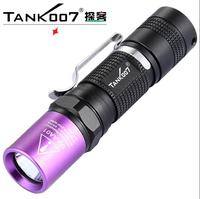 Free Shipping TANK007 UV Led Flashlight Ultra Violet UV Torch linterna AA01 365nm/3w uv black Light by AA Battery