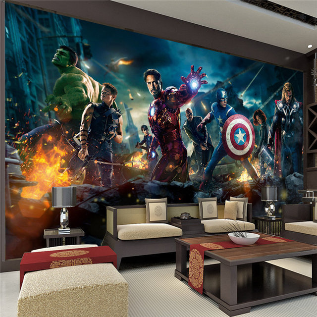 The Avengers Mur Murale Hulk Captain America Thor Photo Papier Peint