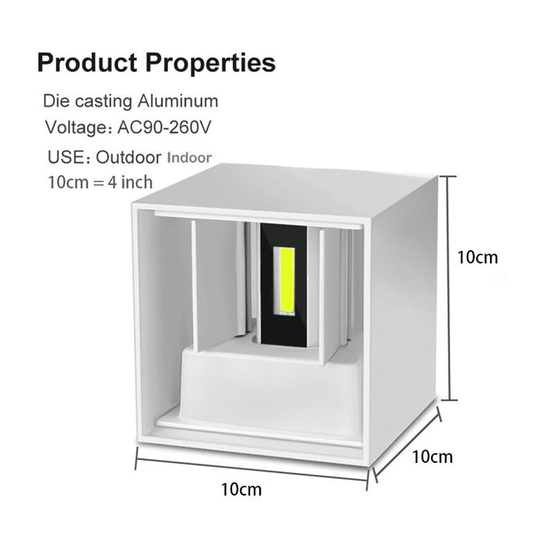 A prueba de agua al aire libre IP65 Aplique Moderno Lámpara de Pared - Iluminación exterior - foto 3