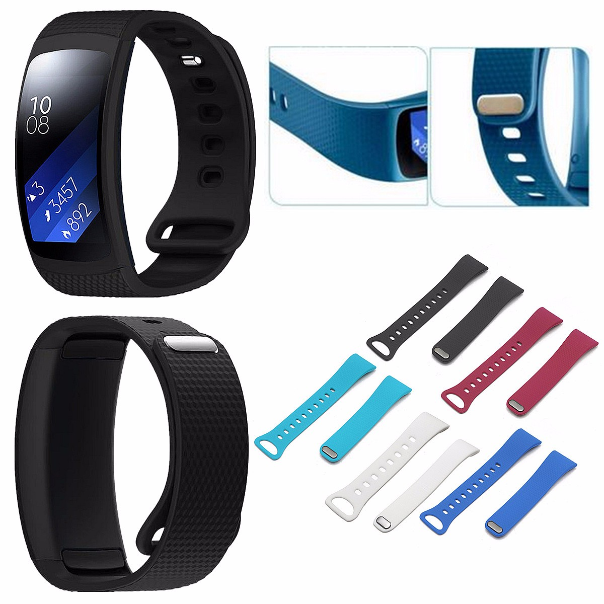 New Arrival Fashion 5 Colors Watchbands Replacement Gifts Silicone WatchBand Strap For Samsung Gear Fit 2 Tracker Wristband luxury silicone watch replacement band strap for samsung gear fit 2 sm r360 wristband 100