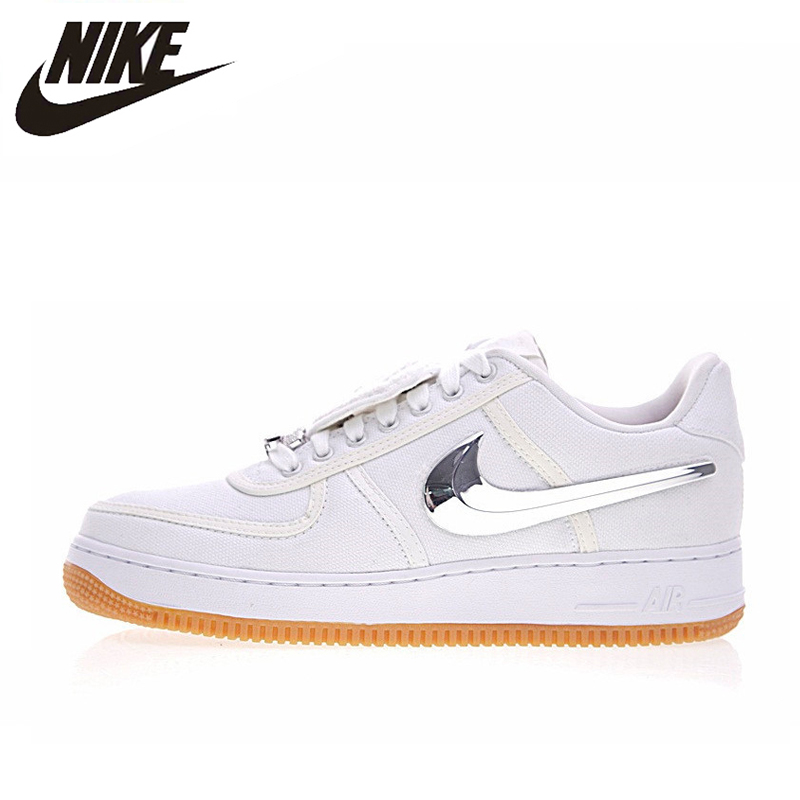 reputable site 9ea11 67a4b Nike Air Force 1 Low Travis Scott Women Skateboarding Shoes,Women Outdoor  Sneakers Comfortable Shoes,White Color AQ4211-100
