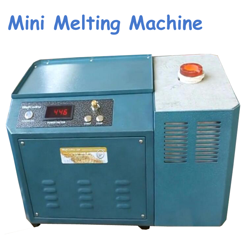 1pc 220V 3000W Mini Melting Machine Medium Frequency Induction Melting Furnace Small Melting Melting Silver Crucible Furnace