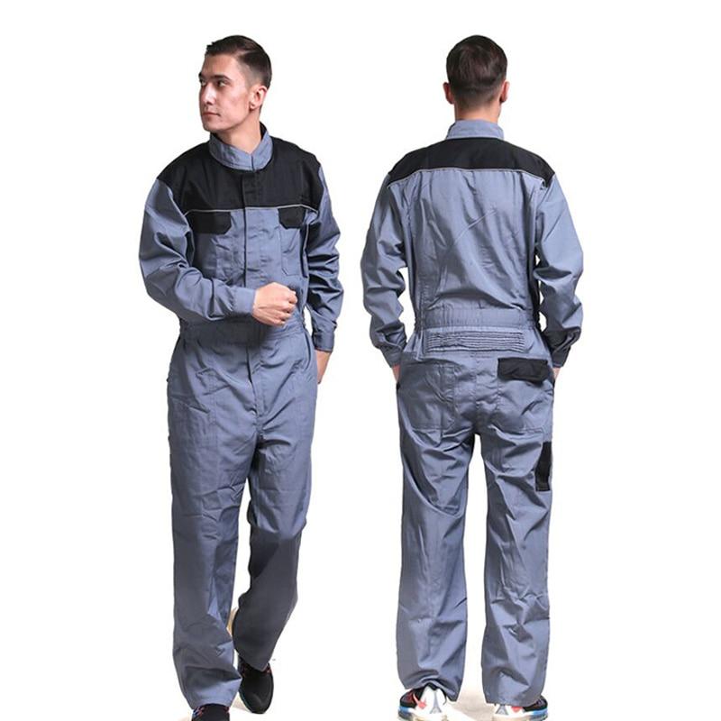 Mechanic working coveralls jumpsuit workwear overalls uniform long sleeve grey colorMechanic working coveralls jumpsuit workwear overalls uniform long sleeve grey color