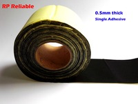 RP Reliable 0.5mm Thick, 10cm*25M, (100mm wide) Single Adhesive Black EVA Foam Tape, Anti shock, Sealing, Dustproof