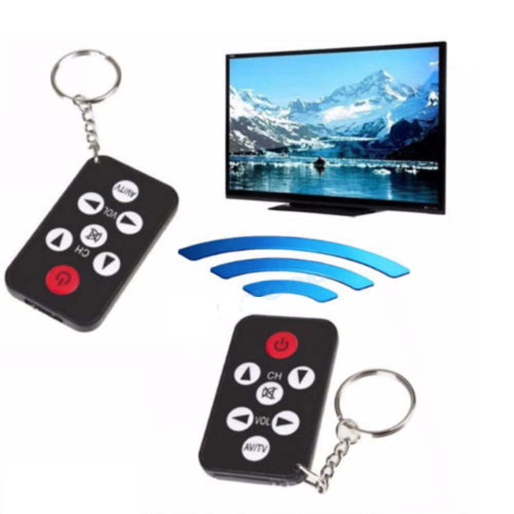 Universal Infrared IR Stealth Mini TV Remote Control Keychain KeyRing Prank Tool ...