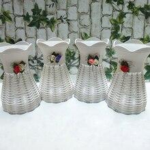 Сделай Сам Создай пластиковую вазу для домашнего украшения цветов, Искусственный Свадебный декор