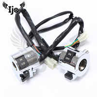 brand chrome silver 25MM moto switches motorbike handlebar controller for vespa piaggio scooter switch motorcycle accessories