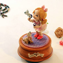 Love bubbles rotating music box birthday gifts honey little girl