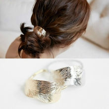 Bride Tiara New Luxury And Punk Rock Large Sheet Metal Ring Hair Trim Hairpin Hairline Wedding Accessories Head Chain(China)