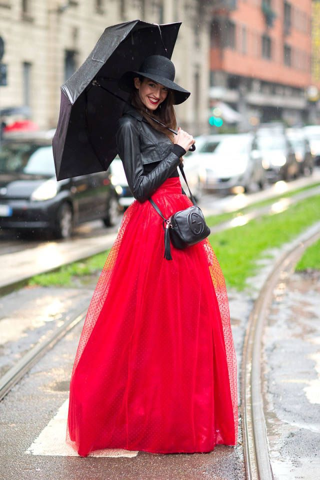 Red long skirt outfits – Modern skirts blog for you