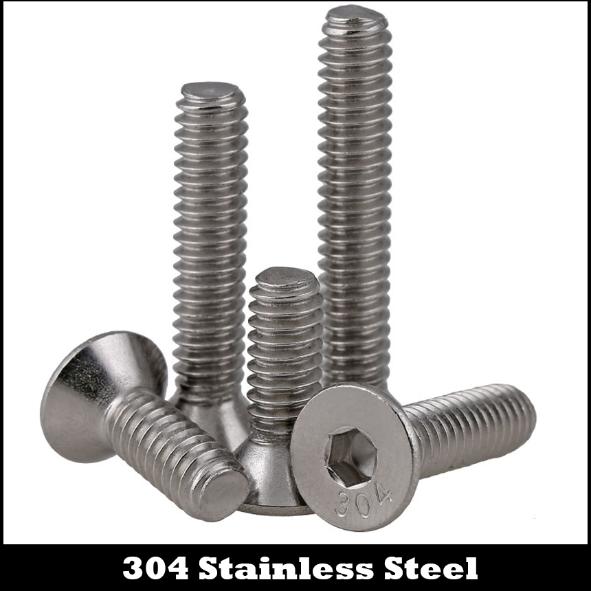 "3//8-16 x 1-1//4/"" 304 Stainless Steel Flat Head Hex Socket Cap Screw 10pcs"