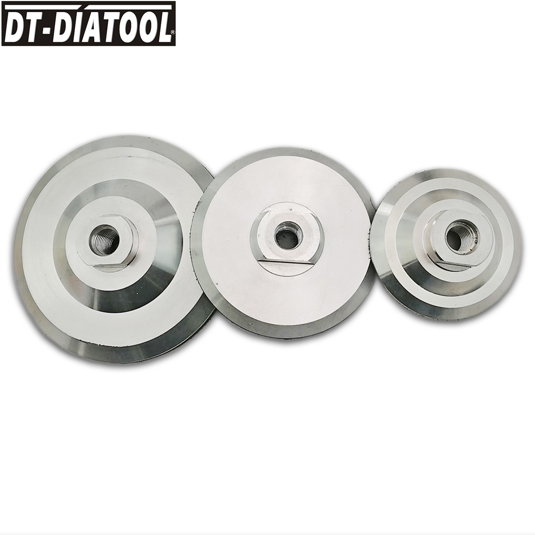 Back Pad for Diamond Polishing Pads with M14 or 5/8 Thread Al base backer Sanding and Grinding Discs DIameter 3
