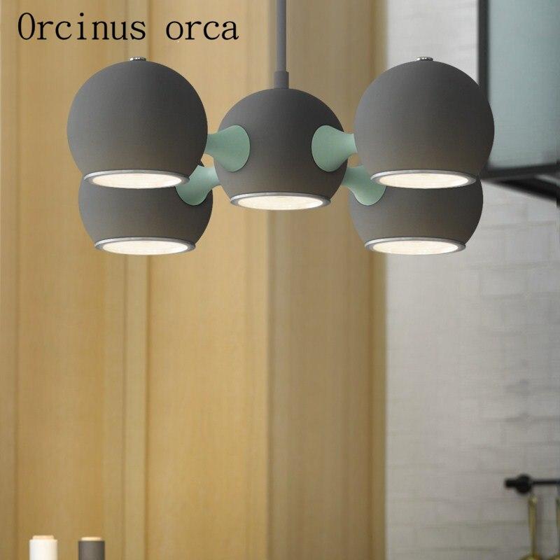 Новейший Скандинавский современный минималистичный светодиодный Люстра для спальни, бара, ресторана, американского стиля, люстра с космич... - 2