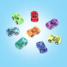 Childrens Best Gift Toys Creative Mini Cartoon Transparent Return Car Model